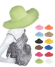 "6pc Pack 4.5"" Brim Floppy Hat H0530"
