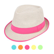 6pc Ladies Fedora Hats H7872