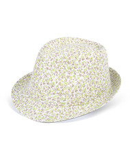 6pc Ladies Fedora Hats Green/Brown H7888