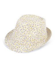 6pc Ladies Fedora Hats Yellow/Brown H7889