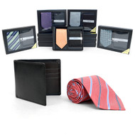 12pc Assorted Pack Poly Woven Tie & Wallet Sets PWWB3701