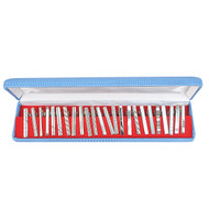 24pc Assorted Silver Tie Bars Set TB1302S