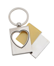 12pc Opening Photo Frame Zinc-Alloy Keychain K1080