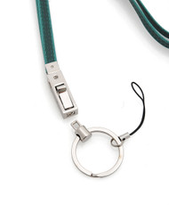 Extra-Long Leather Zinc-Alloy Keyring or Green Cell Phone Strap MS1060