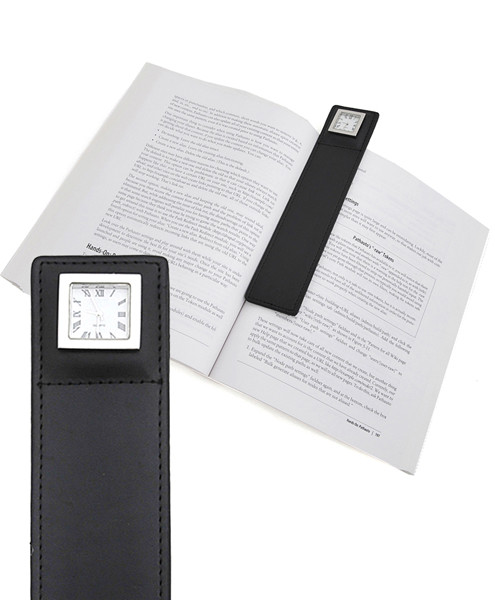 Reading-Time Leather Bookmark Clock BM1000