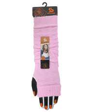 Solid Color Knit Arm Warmers Pink AW2013