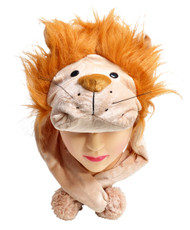 6pc Pre-Pack Animal Fleece Hats - Lion HATCW111323