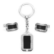 Cufflink & Key Chain Set CKB200