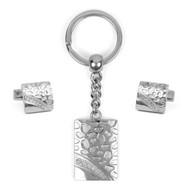 Cufflink & Key Chain Set CKB201
