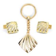 Cufflink & Key Chain Set CKB202