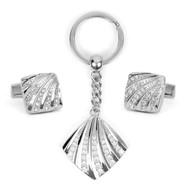 Cufflink & Key Chain Set CKB203