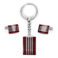 Cufflink & Key Chain Set CKB205