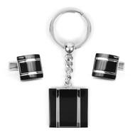 Cufflink & Key Chain Set CKB206