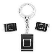Cufflink & Key Chain Set CKB208