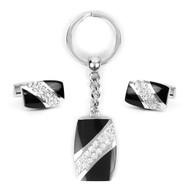 Cufflink & Key Chain Set CKB210