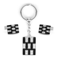 Cufflink & Key Chain Set CKB211