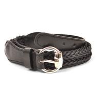 12pc Twist Skinny Black Belt HW1240
