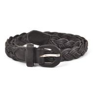 12pc Twist Skinny Black Belt HW1800B