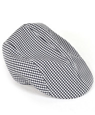 6pc Men's Black Poly/Cotton Plaid Ivy Hats by Westend