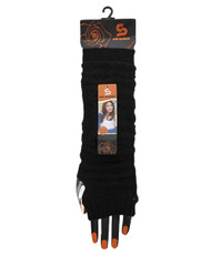Solid Color Knit Arm Warmers Black AW2011