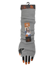 Solid Color Thermal Knit Arm Warmers Gray AW2024