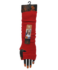 Solid Color Thermal Knit Arm Warmers Red AW2026