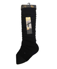 Solid Color Thermal Knit Tall Leg Warmers Black LW1071