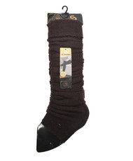Solid Color Thermal Knit Tall Leg Warmers Brown LW1072