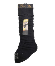 Solid Color Thermal Knit Tall Leg Warmers Charcoal LW1073