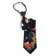 Poly Zipper Christmas Tie PZX4600-BK