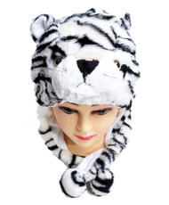Animal Fleece Hats -White Tiger HATCW111378
