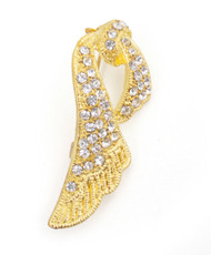 Brooch - Ribbon Gold IMBCBR09942