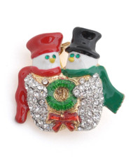 Brooch - Snow man Couple IMBCBR0763
