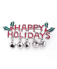 """Happy Holidays"" Brooch JAB11102"