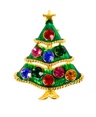 """Christmas Tree"" Brooch JAB10200"