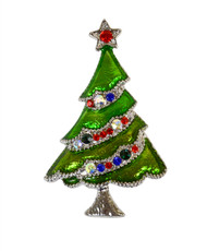 """Christmas Tree"" Brooch JAB9885"
