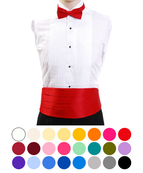 Men's Poly Satin Bow Tie and Cummerbund Sets CBT1301