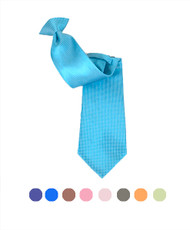 Poly Woven Clip On Tie PWCL4505