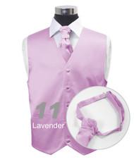 Lavender Poly Solid Satin Cravat FC1701-11