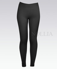 6pc Pack Solid Winter Leggings Black L04235390BK