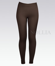 6pc Pack Solid Winter Leggings Brown L04235390BR