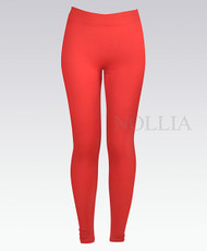 6 Pack Solid Winter Leggings Red L04235390RD