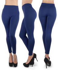 12pc 100% Poly Stretch Leggings Navy L0643