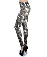 12pc Ladies Footless Printed Leggings - Camo
