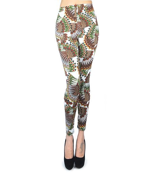 12pc Ladies Footless Printed Leggings - L8004