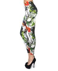 12pc Ladies Footless Printed Leggings - L8006