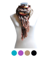 """Abstract"" Viscose Scarf LS2707"
