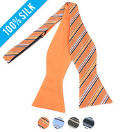 100% Silk Woven Freestyle and Reversible Bow Tie FRBS1060