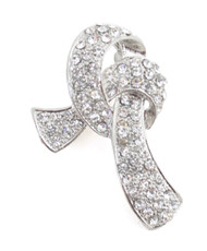 Brooch - Ribbon Silver IMBCBR09932