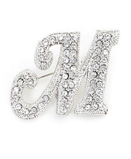 Brooch - Letter M Silver IMBCBR0551